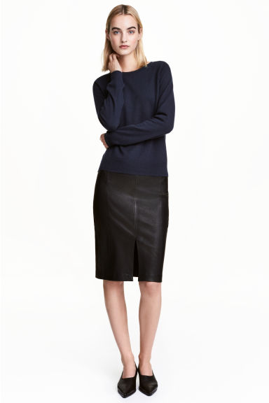 Leather pencil skirt - Black - Ladies | H&M CN 1