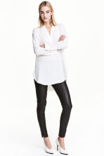 Silk tunic - White - Ladies | H&M CN 1