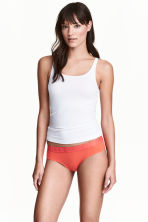 3-pack cotton-blend briefs - Red/Orange - Ladies | H&M CA 1