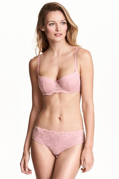 Lace hipster briefs - Vintage pink - Ladies | H&M 1