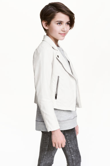 Biker jacket - White - Kids | H&M
