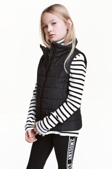 Padded gilet - Black - Kids | H&M 1