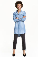 Long shirt - Denim blue - Ladies | H&M CN 1