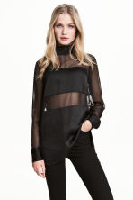 Chiffon blouse - Black - Ladies | H&M 1