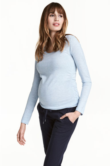 MAMA Fine-knit jumper - Light blue marl - Ladies | H&M 1