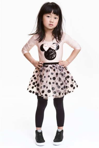 薄紗裙連身舞衣 - Light pink/Minnie Mouse - Kids | H&M 1