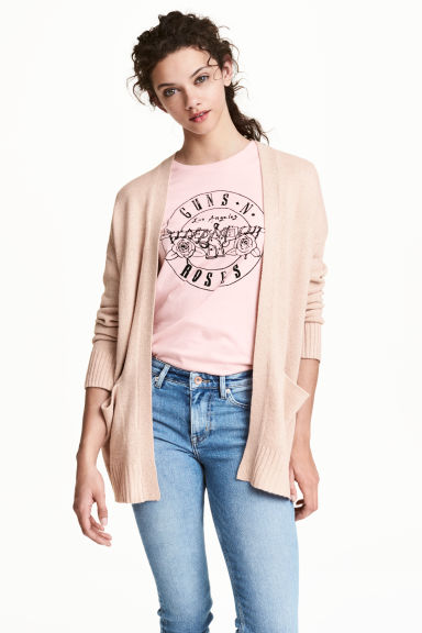 Knitted cardigan - Powder beige - Ladies | H&M CN 1