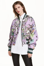 Quilted bomber jacket - Purple/Tigers - Ladies | H&M CN 1