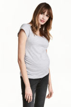 MAMA 2-pack tops - Light grey/Dark blue - Ladies | H&M CA 2