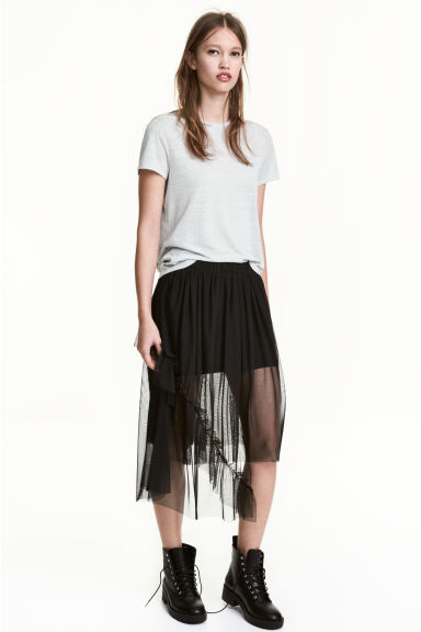 Gonna in tulle - Nero - DONNA | H&M IT 1