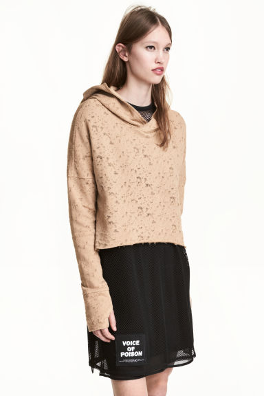 Short hooded top - Beige - Ladies | H&M