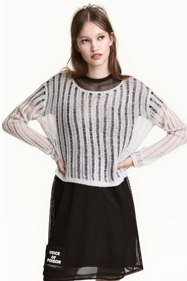 Rib-knit jumper - Grey - Ladies | H&M CN 1