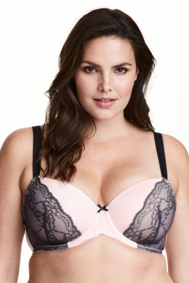 Padded underwired bra E/F cup Model