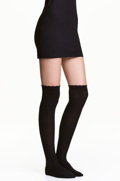 2-pack over-the-knee socks - Black - Ladies | H&M CN 1
