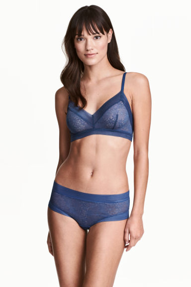 Lace hipster briefs - Storm blue - Ladies | H&M CN