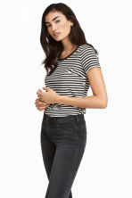 MAMA Nursing top - White/Black striped - Ladies | H&M 1
