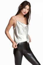 Shimmering strappy top - Silver - Ladies | H&M 1