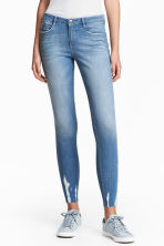 Super Skinny Ankle Jeans - Light denim blue - Ladies | H&M GB 1