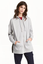 Long hooded jacket - Grey marl - Ladies | H&M 1
