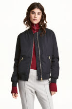 Bomber jacket - Dark blue - Ladies | H&M 1