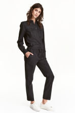 Lyocell-blend jumpsuit - Black - Ladies | H&M 1