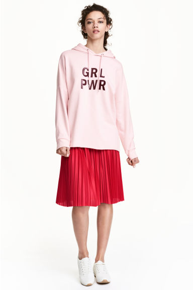 Pleated skirt - Red - Ladies | H&M