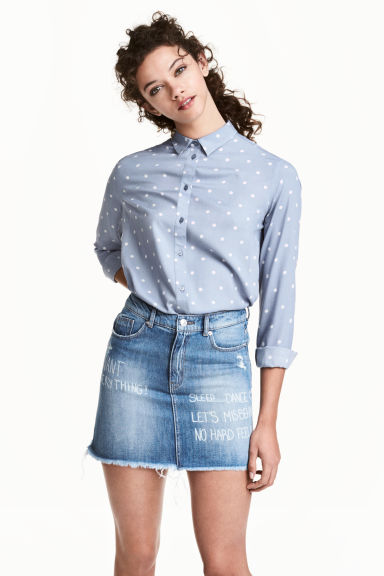 Gonna corta in jeans - Blu denim - DONNA | H&M IT 1
