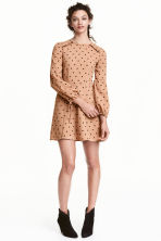 Spotted dress - Beige/Spotted - Ladies | H&M CN 1