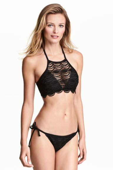 Halterneck bikini top - Black - Ladies | H&M CN 1