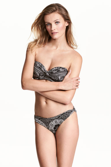 Bikini bottoms - Black/White/Patterned - Ladies | H&M CN 1