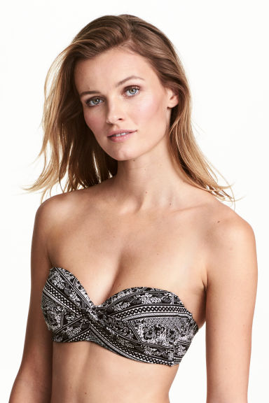 Bikini top - Black/White/Patterned - Ladies | H&M 1