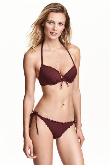 Bikini bottoms - Burgundy - Ladies | H&M 1