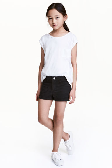 Denim shorts - Black - Kids | H&M 1