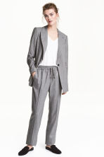 Pull-on trousers - Grey/Pinstripe - Ladies | H&M 1