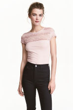 Lace top - Light pink - Ladies | H&M CN 1
