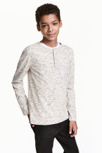 Henley shirt - Natural white marl - Kids | H&M CN 1