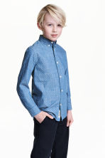 Cotton shirt - Denim blue/Spotted - Kids | H&M 1