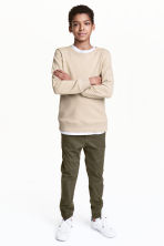 Pull-on trousers - Khaki green - Kids | H&M 1