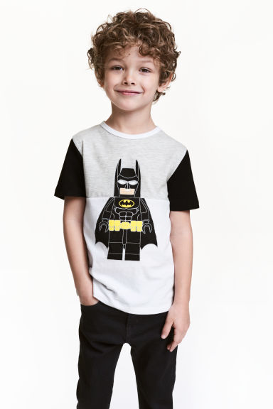 Printed T-shirt - White/Lego - Kids | H&M 1