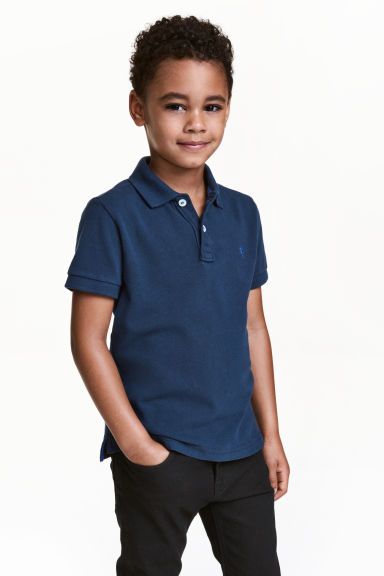 Polo shirt - Dark blue - Kids | H&M CA