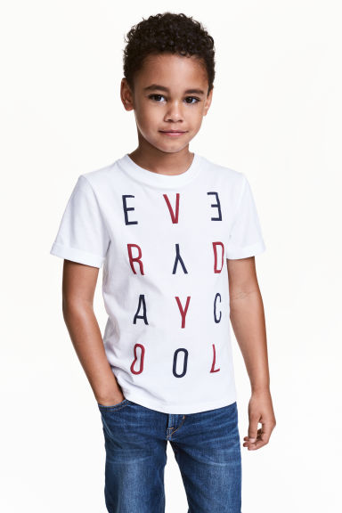 Printed T-shirt - White -  | H&M 1