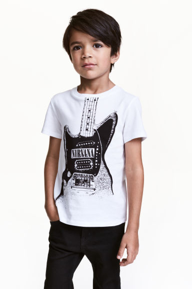 Printed T-shirt - White/Nirvana -  | H&M CN 1