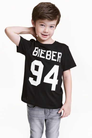 T-shirt con stampa - Nero/Justin Bieber -  | H&M IT 1