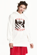 Long hooded top - White - Ladies | H&M 1