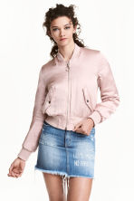 Padded bomber jacket - Powder pink - Ladies | H&M 1