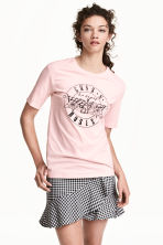 Printed T-shirt - Pink/Guns N' Roses - Ladies | H&M 1