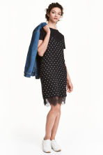 Slip dress - Black/Spotted - Ladies | H&M CN 1