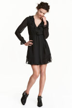 Wrap dress - Black - Ladies | H&M 1