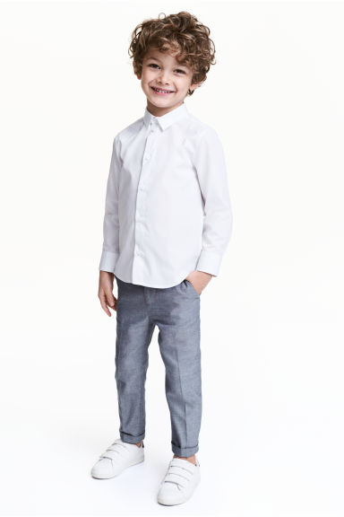 Suit trousers - Dark blue marl - Kids | H&M 1