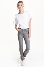 Petite fit Trousers - Grey denim - Ladies | H&M 1